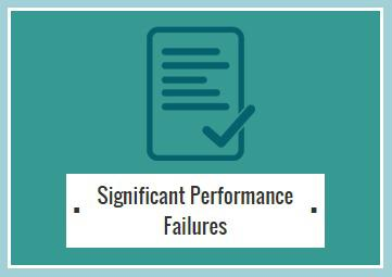 Significant Performance Failures Logo